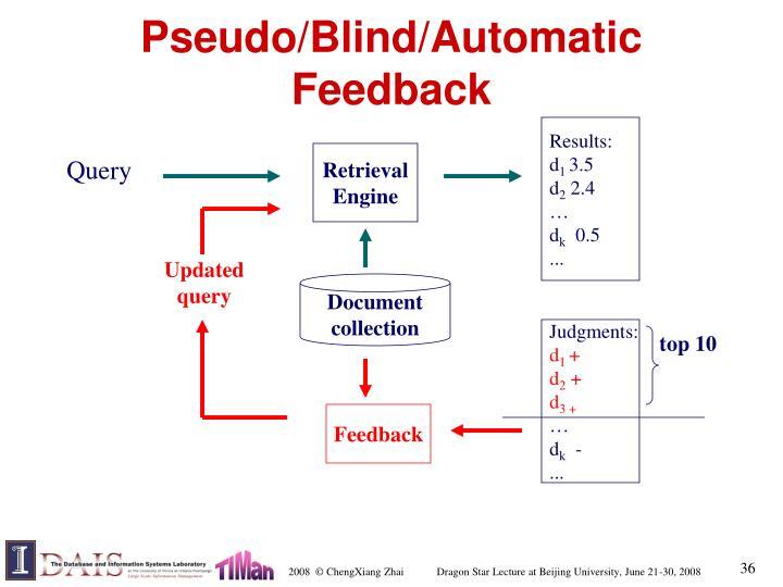 Pseudo/Blind/Automatic Feedback