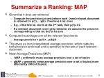 summarize a ranking map