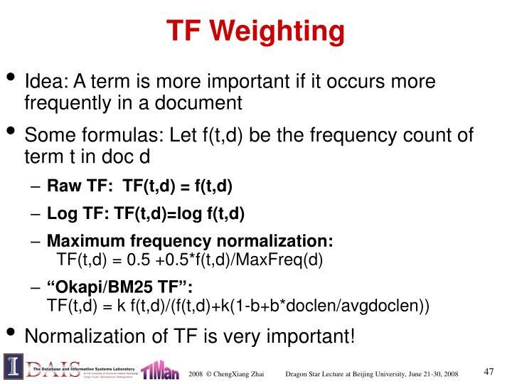 TF Weighting