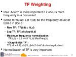 tf weighting