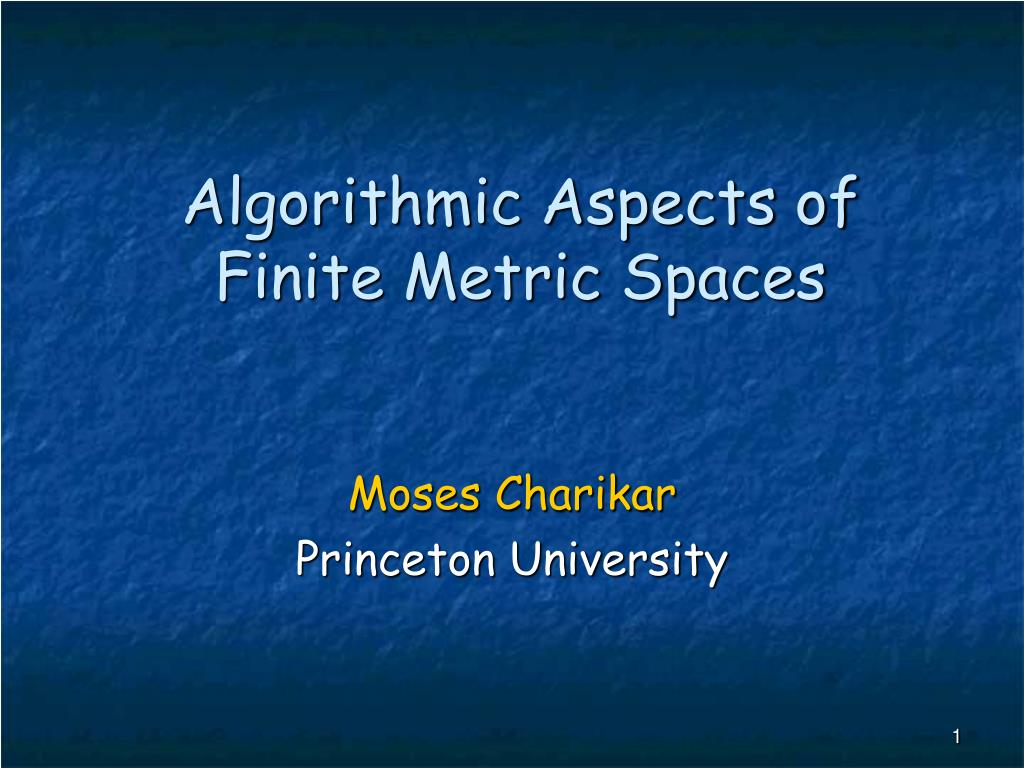 algorithmic aspects of finite metric spaces l.