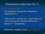 dimension reduction for 118
