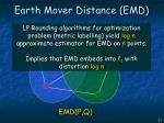 earth mover distance emd
