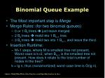 binomial queue example