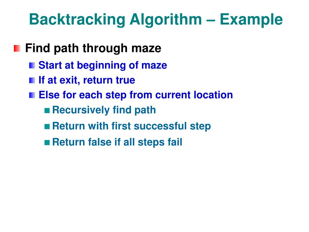 Backtracking Algorithm – Example