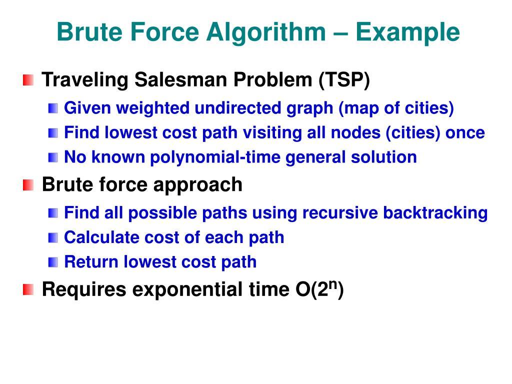 Brute Force Algorithm – Example
