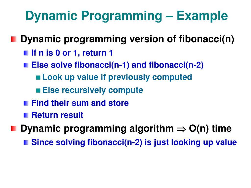 Dynamic Programming – Example