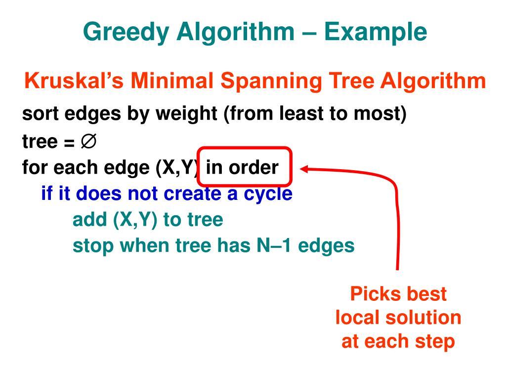 Greedy Algorithm – Example