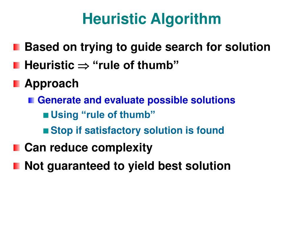 Heuristic Algorithm
