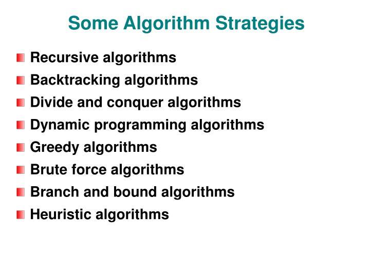 Some algorithm strategies