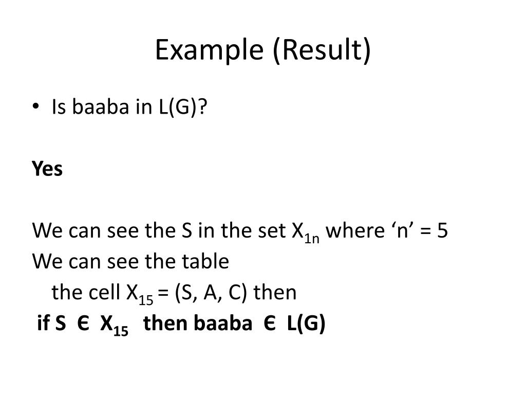 Example (Result)