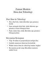 zaman modern ilmu dan teknologi