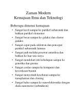 zaman modern kemajuan ilmu dan teknologi74