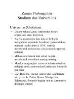 zaman pertengahan studium dan universitas12