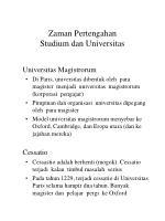 zaman pertengahan studium dan universitas13