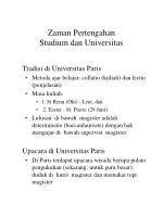 zaman pertengahan studium dan universitas14