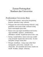 zaman pertengahan studium dan universitas15