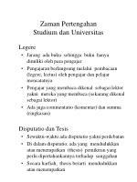 zaman pertengahan studium dan universitas6