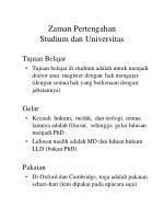 zaman pertengahan studium dan universitas9