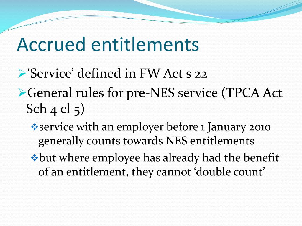 Accrued entitlements