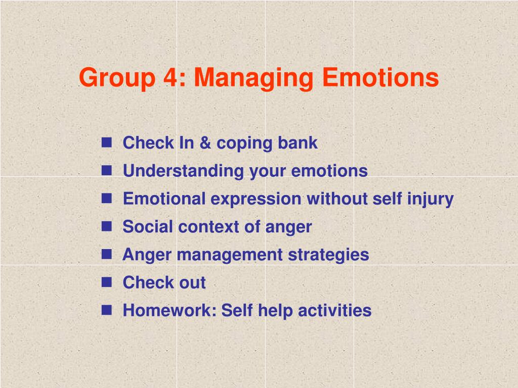 Group 4: Managing Emotions