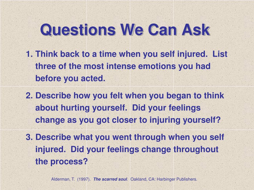 Questions We Can Ask