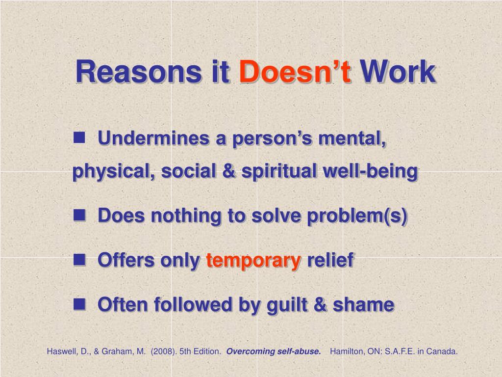 Reasons it