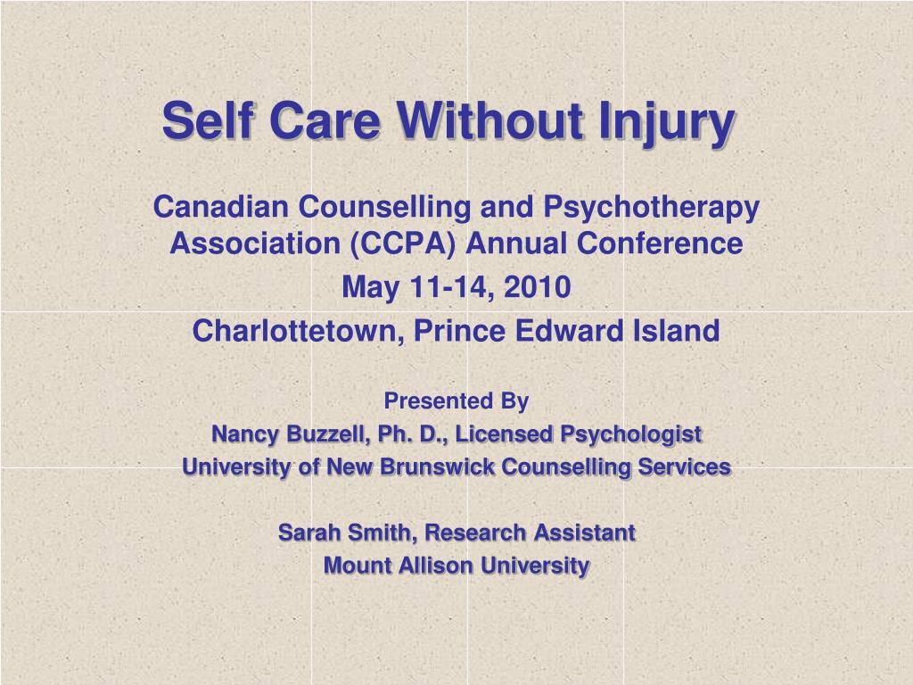 Self Care Without Injury