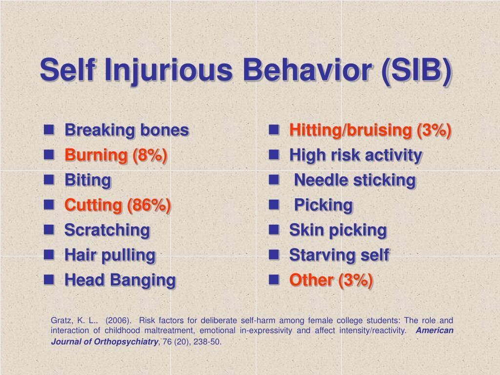 Self Injurious Behavior (SIB)
