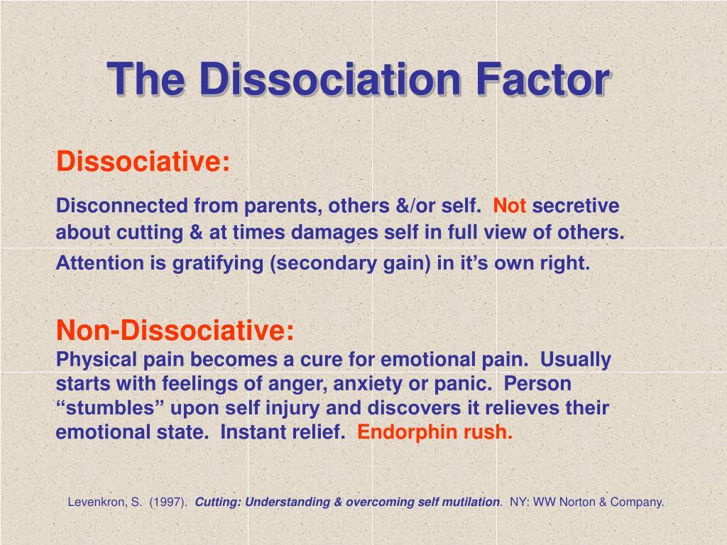 The Dissociation Factor
