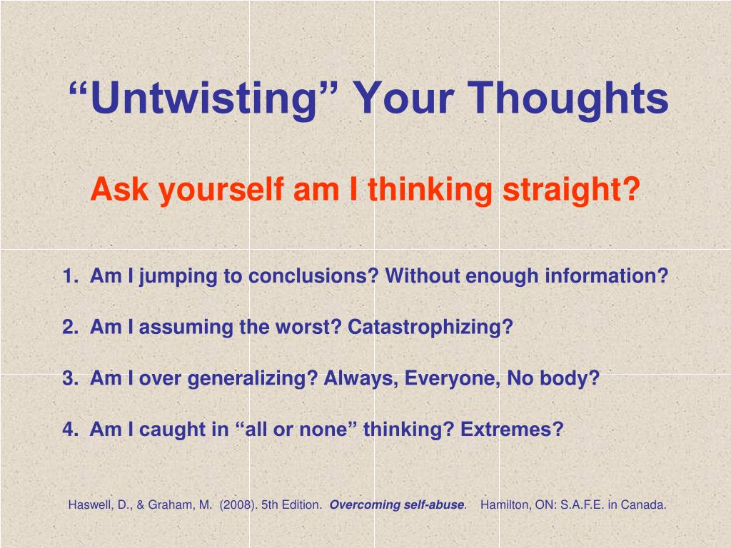 """""""Untwisting"""" Your Thoughts"""