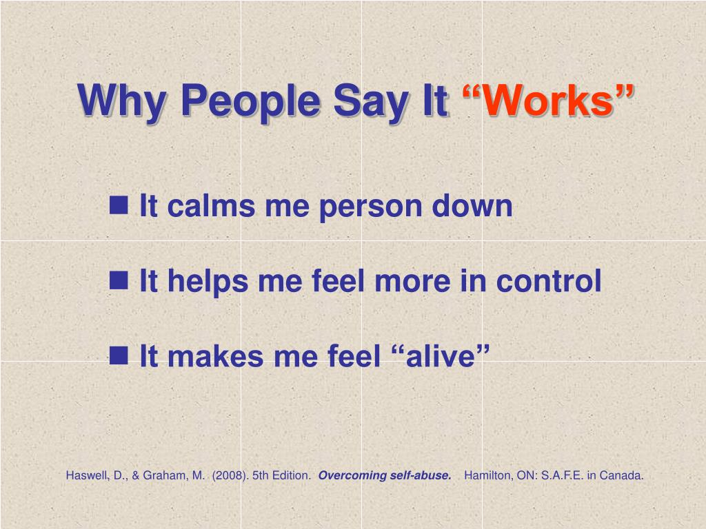 Why People Say It