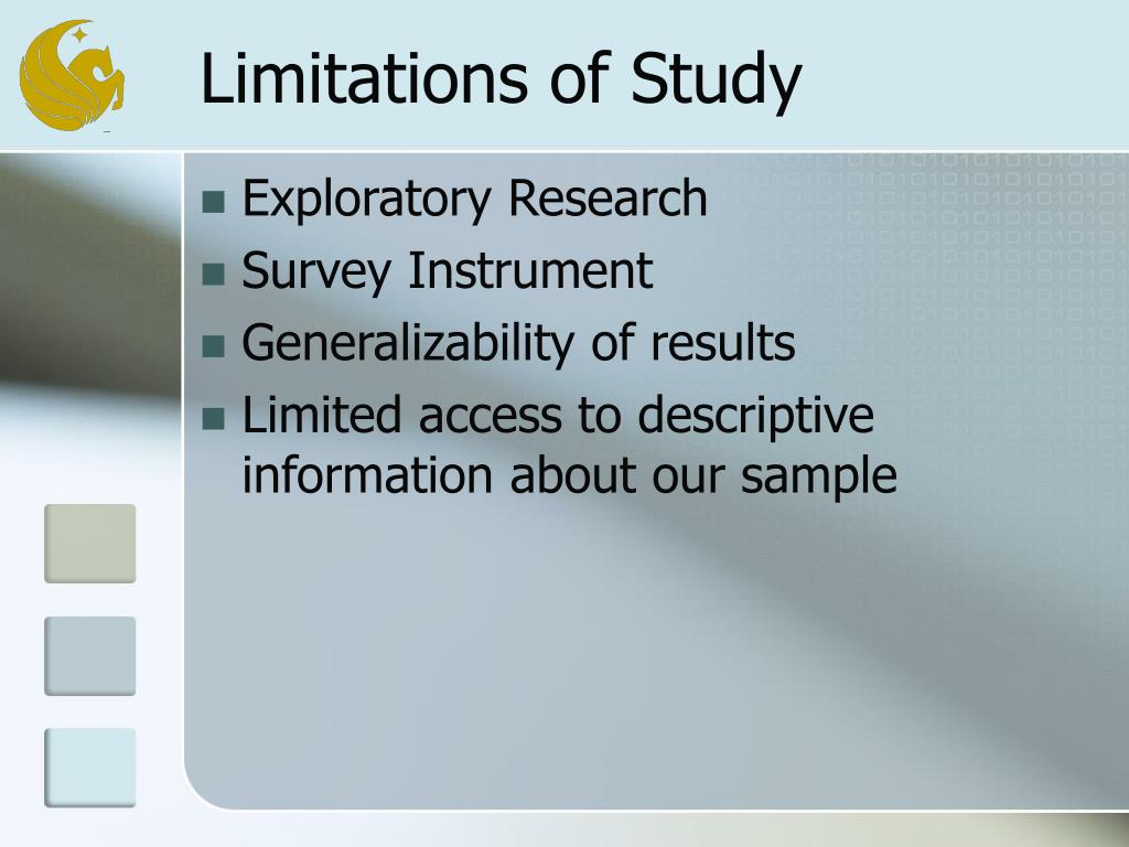 Limitations of Study