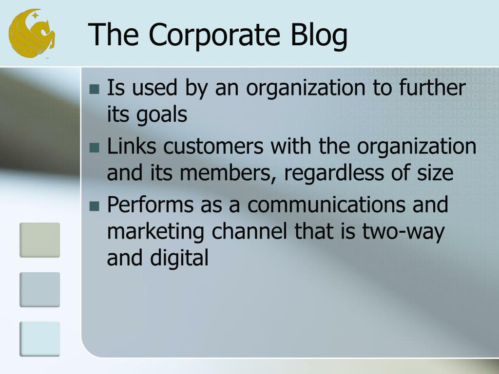 The Corporate Blog