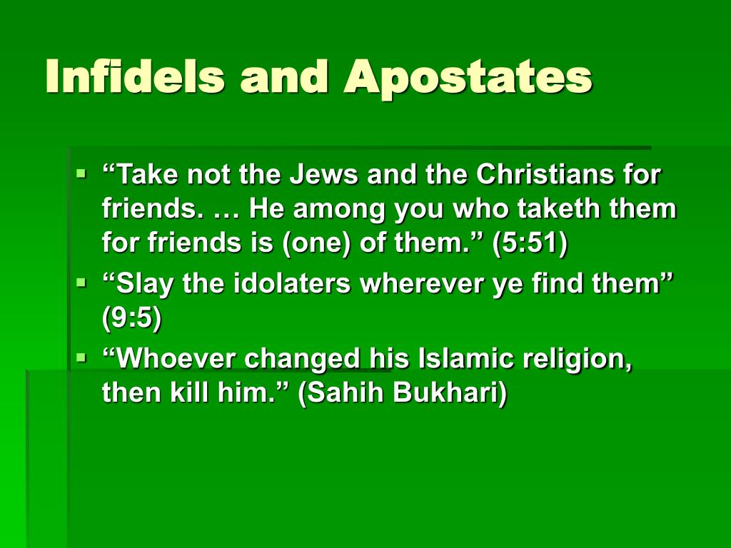 Infidels and Apostates