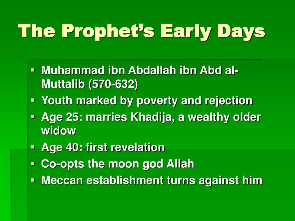 The Prophet's Early Days