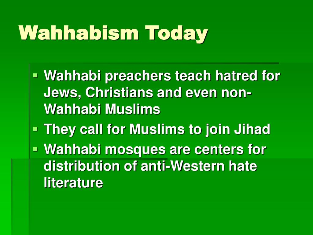 Wahhabism Today