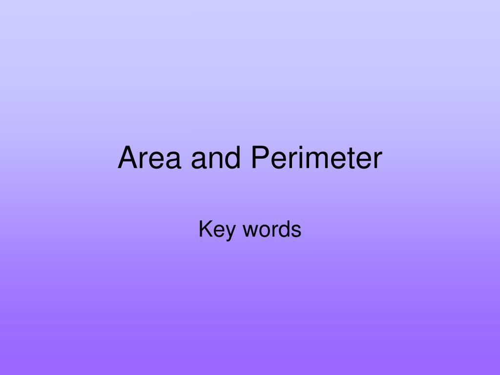 area and perimeter l.