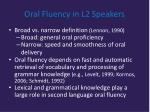 oral fluency in l2 speakers