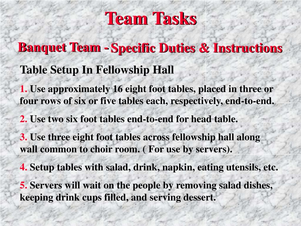 Team Tasks