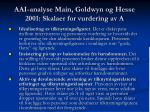 aai analyse main goldwyn og hesse 2001 skalaer for vurdering av a