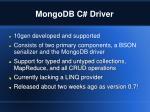 mongodb c driver