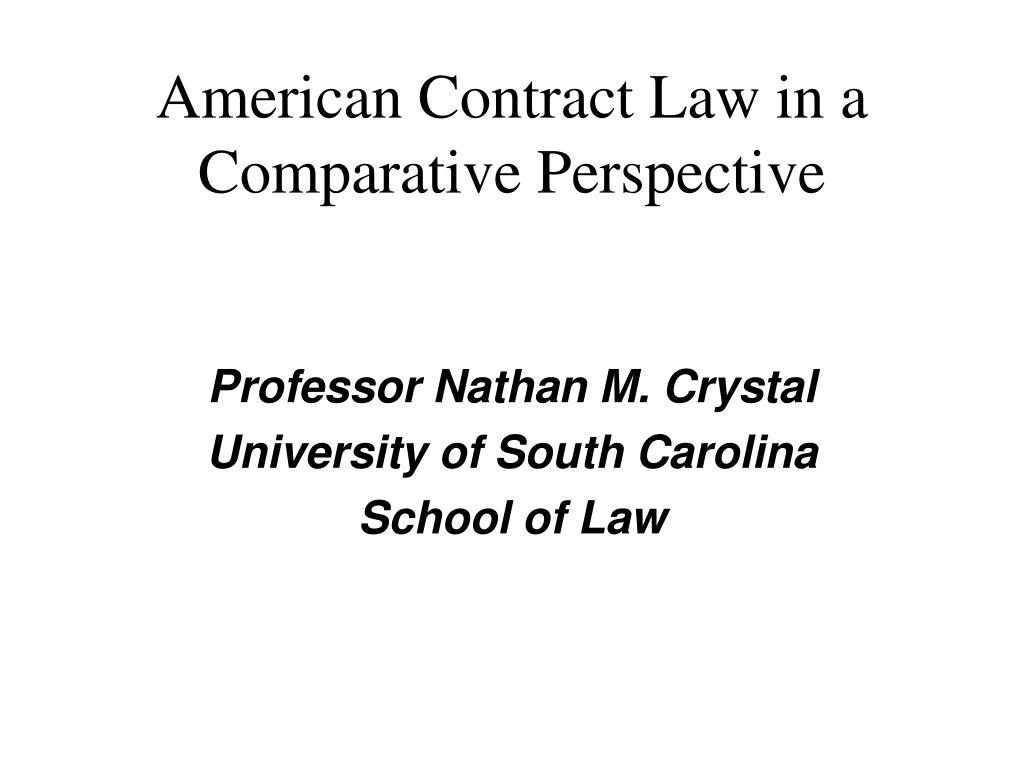 american contract law in a comparative perspective l.