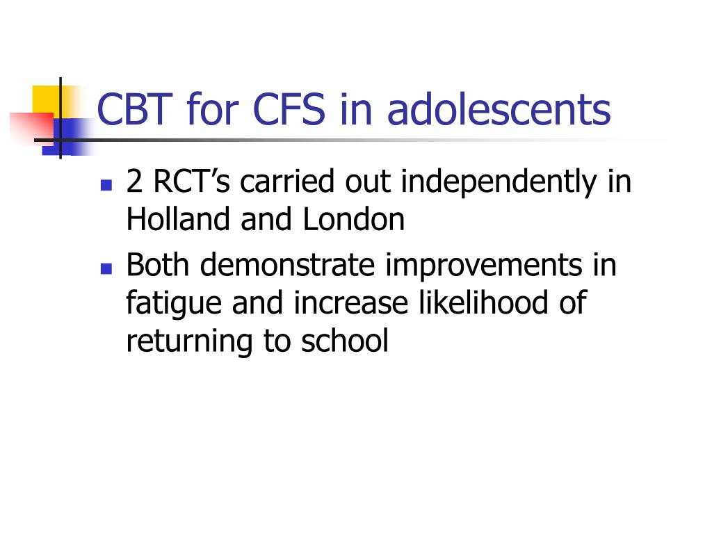 CBT for CFS in adolescents