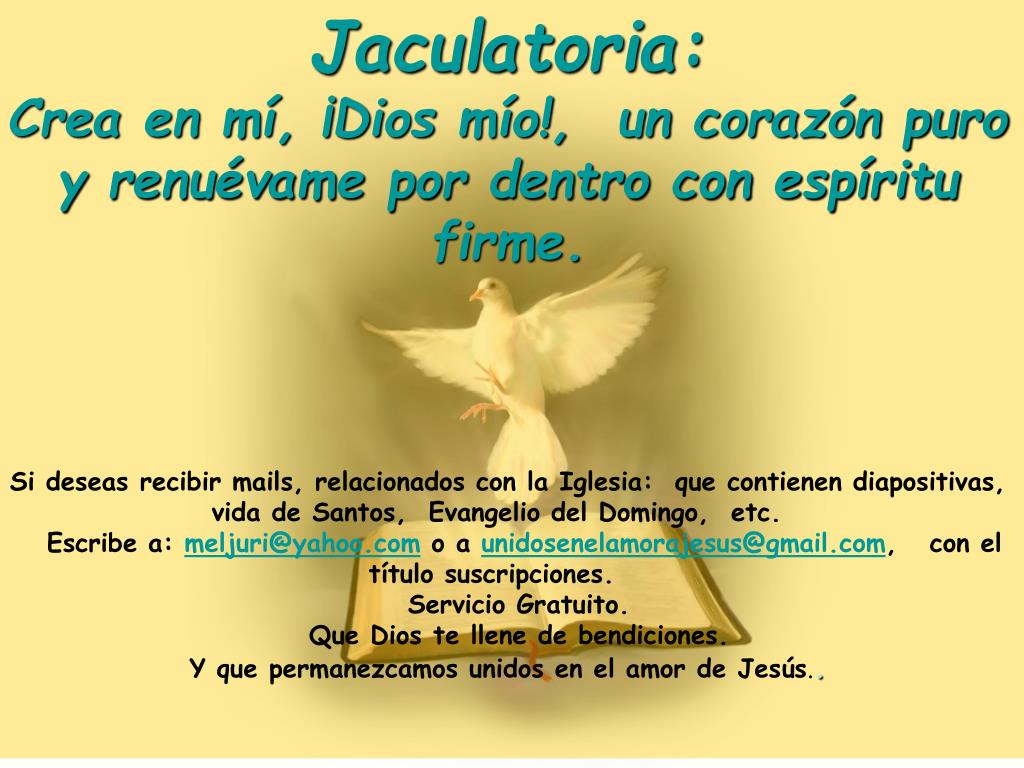 Jaculatoria: