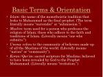 basic terms orientation