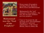 muhammad was the seal of the prophets