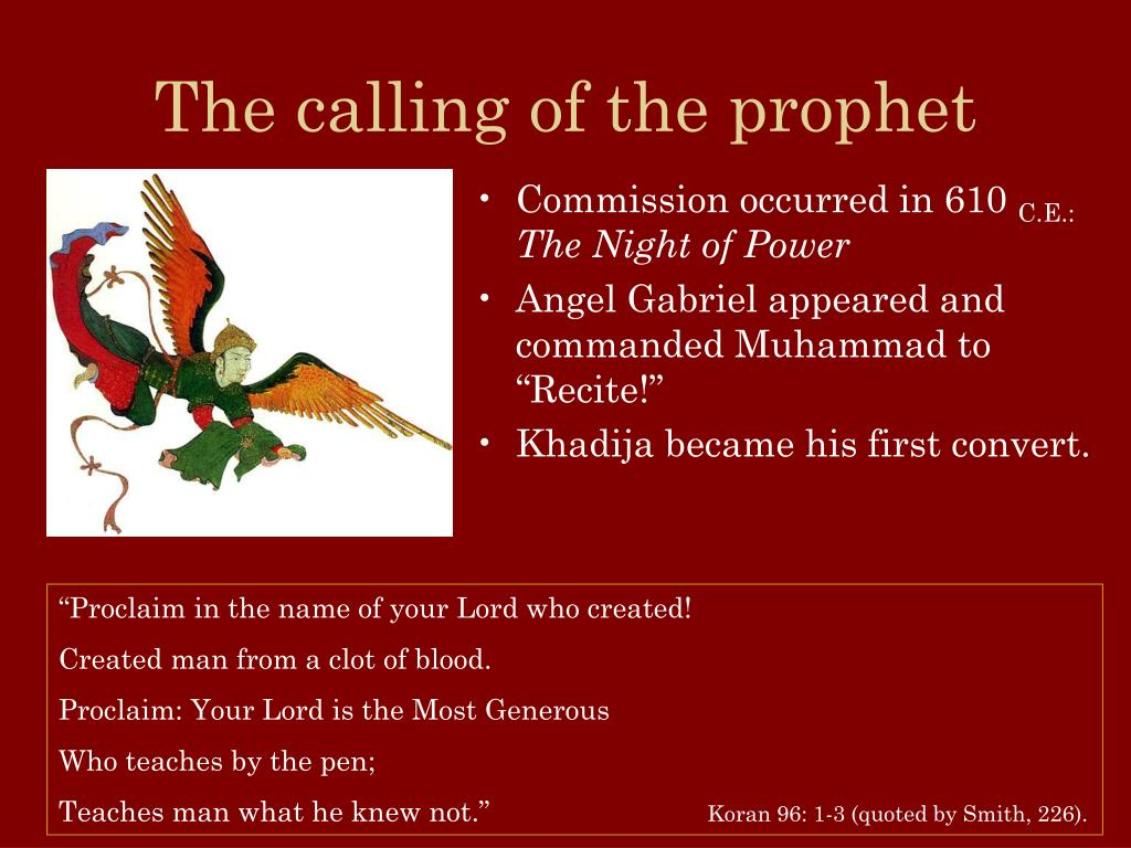 The calling of the prophet