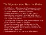 the migration from mecca to medina