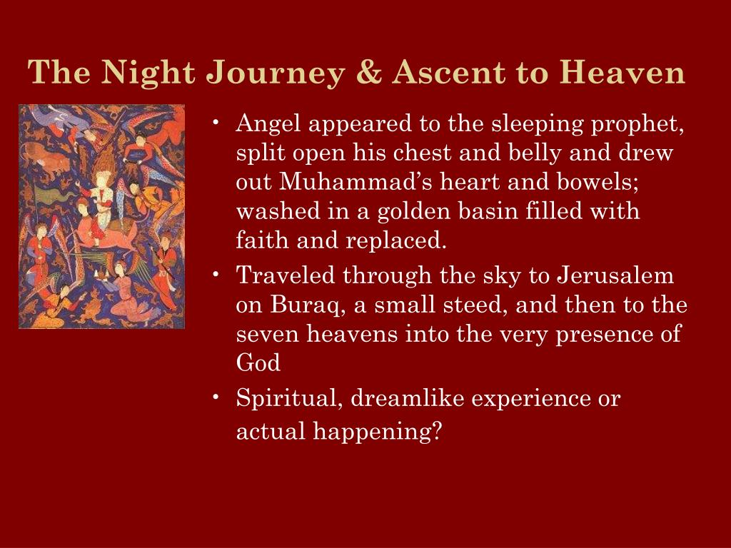 The Night Journey & Ascent to Heaven